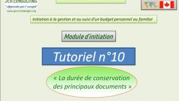 La durée de conservation des documents