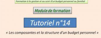 Les composantes et la structure d'un budget personnel