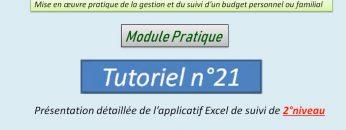 Présentation détaillée de l'applicatif Excel de gestion et de suivi de 2