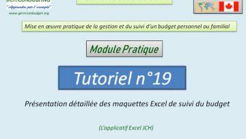 Présentation détaillée des maquettes Excel de gestion et de suivi d'un budget personnel