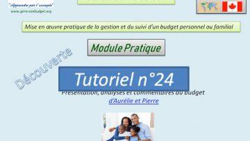 Présentation et analyse du budget d'une famille (scénario n°3)
