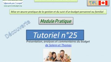 Présentation et analyse du budget d'une famille (scénario n°4)