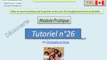 Présentation et analyse du budget d'une famille (scénario n°5)